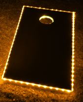 GlowCity Light Up LED Cornhole Lights Board Kit Double The Illumination with Closer Spaced LED's (Includes Lighting Kit for ONE Board So You Can Mix and Match)