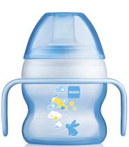 MAM Starter Cup, Sippy Cups for Toddlers with Handles, Boy, 5 Ounces, 1-Count, Designs May Vary