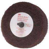 "Scotch-Brite Roloc+ General Purpose Scuffing Wheel 7443 - Very Fine Grit Aluminum Oxide - Metal Scuffing Wheel - Roloc+ Quick Change - 4"" x 1-1/8"" - Pack of 10"