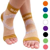 BLITZU Plantar Fasciitis Compression Socks for Women & Men - Best Ankle and Nano Sleeve for Everyday Use - Provides Foot & Arch Support. Heel Pain, and Achilles Tendonitis Relief.