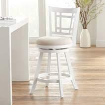Hillsdale Furniture Fairfox Swivel Counter Height Stool, White