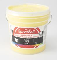 Speedball Fabric Screen Printing Ink, 128 fl. oz, Yellow