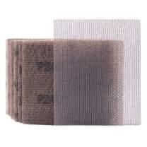 "Mesh Sheet Sandpaper 240 Grit 1/4 Sheet Hook & Loop or Clip on Sander Sheets 5.5"" x 4.5"" Dust Free Sanding Sheets for Palm Sanders Polishing Accessories, 10PCS"