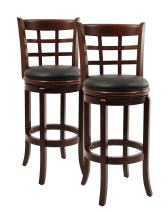 Boraam Kyoto Bar Height Swivel Stool, 29-Inch, Cherry, 2-Pack