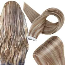 Fshine Human Hair Tape In Extensions 22 Inch Highlighted Color 10 Light Brown And 613 Bleach Blonde Hair Extensions Tape In Human Hair 20 Pcs 50 Grams Tape Hair Extensions