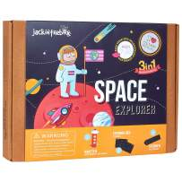 jackinthebox Space Themed STEM Learning Educational Toy for Boys and Girls   3 Activities-in-1 Kit   Great Gift for Kids Aged 6 7 8 9 10 Years Old