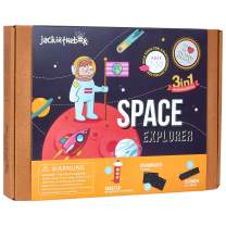 jackinthebox Space Themed STEM Learning Educational Toy for Boys and Girls | 3 Activities-in-1 Kit | Great Gift for Kids Aged 6 7 8 9 10 Years Old