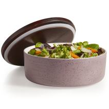 Libbey Urban Story Ceramic Bowl with Lid, Large, Purple