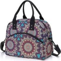 Insulated Lunch Box Bag with Detachable Shoulder Strap & Carry Handle,Leak Proof Reusable Lunch bag, Eco-friendly Cooler Bag,School Lunch Box for Kids,Men,Women (Bohemians)