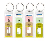 Cruise Tags - Narrow Cruise Ship Luggage Etag Holder with Zip Seal & Steel Loops for Royal Caribbean and Celebrity Cruises (80 Luggage Tag Holders)