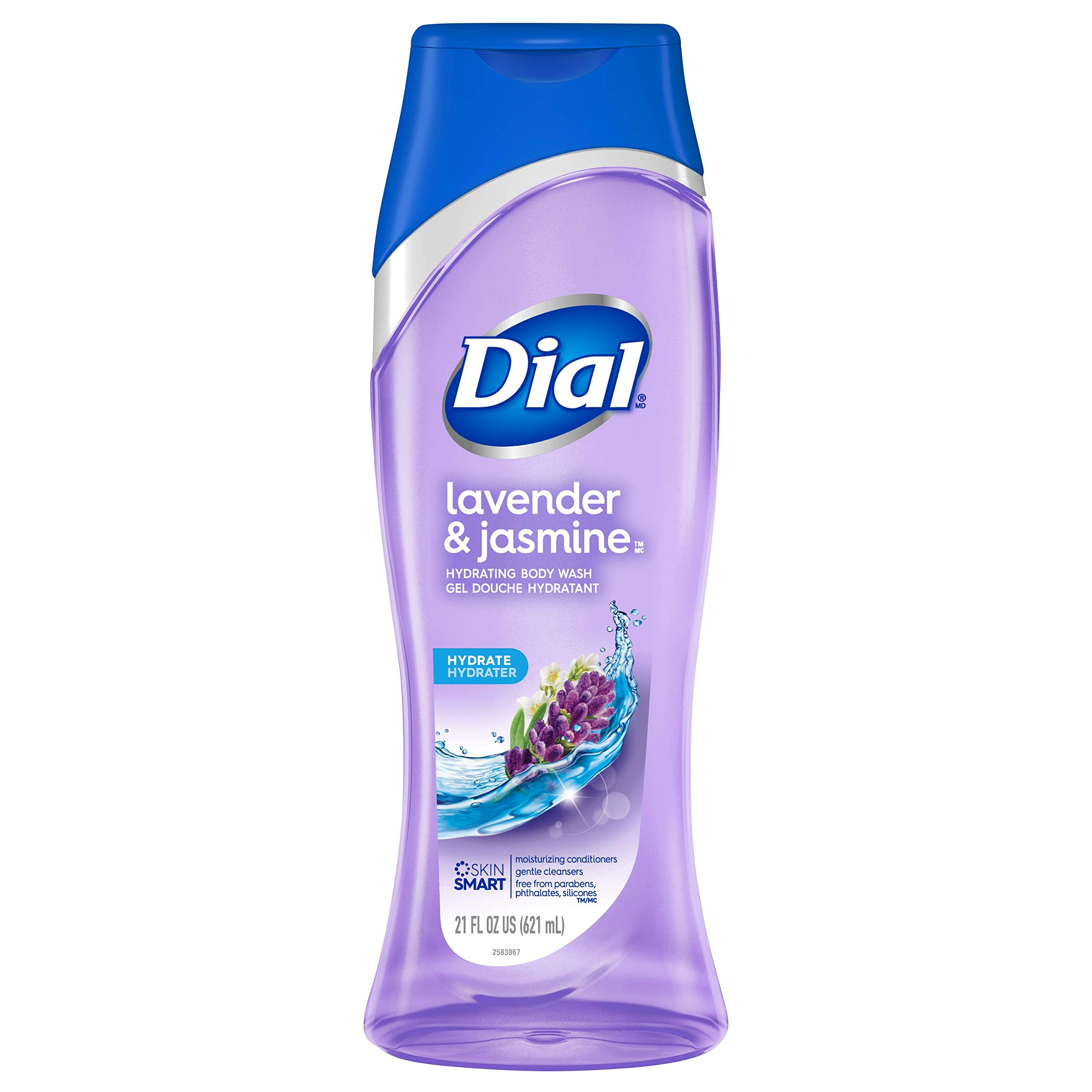 Dial Body Wash, Lavender & Jasmine, 16 Ounce, Pack of 6