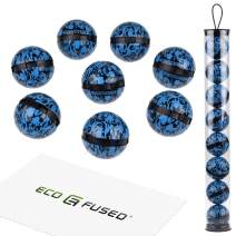 ECO-FUSED Deodorizing Balls for Sneakers, Lockers, Gym Bags - 8 Pack - Neutralizes Sweat Odor - Also Great for Homes, Offices and Cars - Easy Twist Lock/Open Mechanism - Ocean Fresh