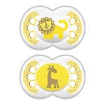 MAM Clear Pacifier (2 pack, 1 Sterilizing Pacifier Case), Pacifiers 6 Plus Months, Unisex Pacifier, Best Pacifiers for Breastfed Babies, Sterilizing Storage Case