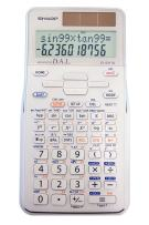 Sharp EL-531TGBDW 12-Digit Scientific/Engineering Calculator with Protective Hard Cover, Battery and Solar Hybrid Powered LCD Display, Great for Students and Professionals, Silver