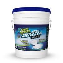 Green Gobbler 96% Pure Calcium Chloride Snow & Ice Melt Pellets | Concrete Safe Ice Melt (25 lb Pail)
