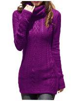 v28 Women Polo Neck Turtleneck Knit Stretchable Elasticity Long Slim Sweater