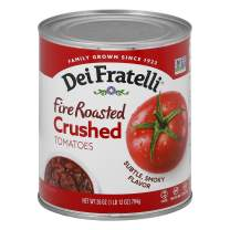 Dei Fratelli Fire Roasted Crushed Tomatoes - All Natural - No Water Added - Never from Tomato Paste - 5th Generation Recipe (28 oz. cans; 12 pack)