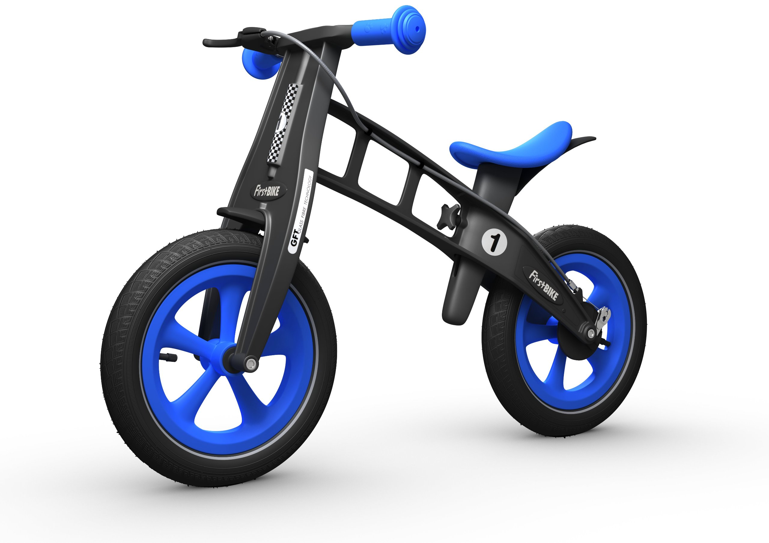 FirstBIKE Limited Edition Balance Bike with Brake, Blue - for Kids & Toddlers Ages 2,3,4,5