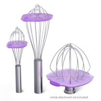 Whisk Wiper 5pc Bundle+ - Mix Without The Mess - Kitchen Accessory & Gift - Incl. Whisk Wiper PRO for Tilt-Head Stand Mixer (4.5 & 5qt), Whisk Wiper + Whisk Wiper mini sets (Color: Violet)