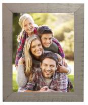 Distressed Wooden Picture Frame – Real Wood Photo Frame with Sawtooth Hook for Mounting – Wall Mount Frame with Natural Wood Accents (Grey Distressed, 11x14)