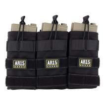 Raiseek Molle Open Top Triple Mag Pouch for Rifle .223/5.56 7.62 Magazine