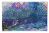 Monet Wall Art Collection WC-33MONET-1218 Waterloo Bridge, 1899 by Claude Monet Canvas Prints Wrapped Gallery Wall Art | Stretched and Framed Ready to Hang 12X18,