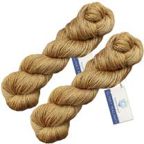 Living Dreams Slinky Malinky Sock Yarn USA HAND DYED Colorfast Superwash Merino Tencel Fingering, Bronze 400 yards