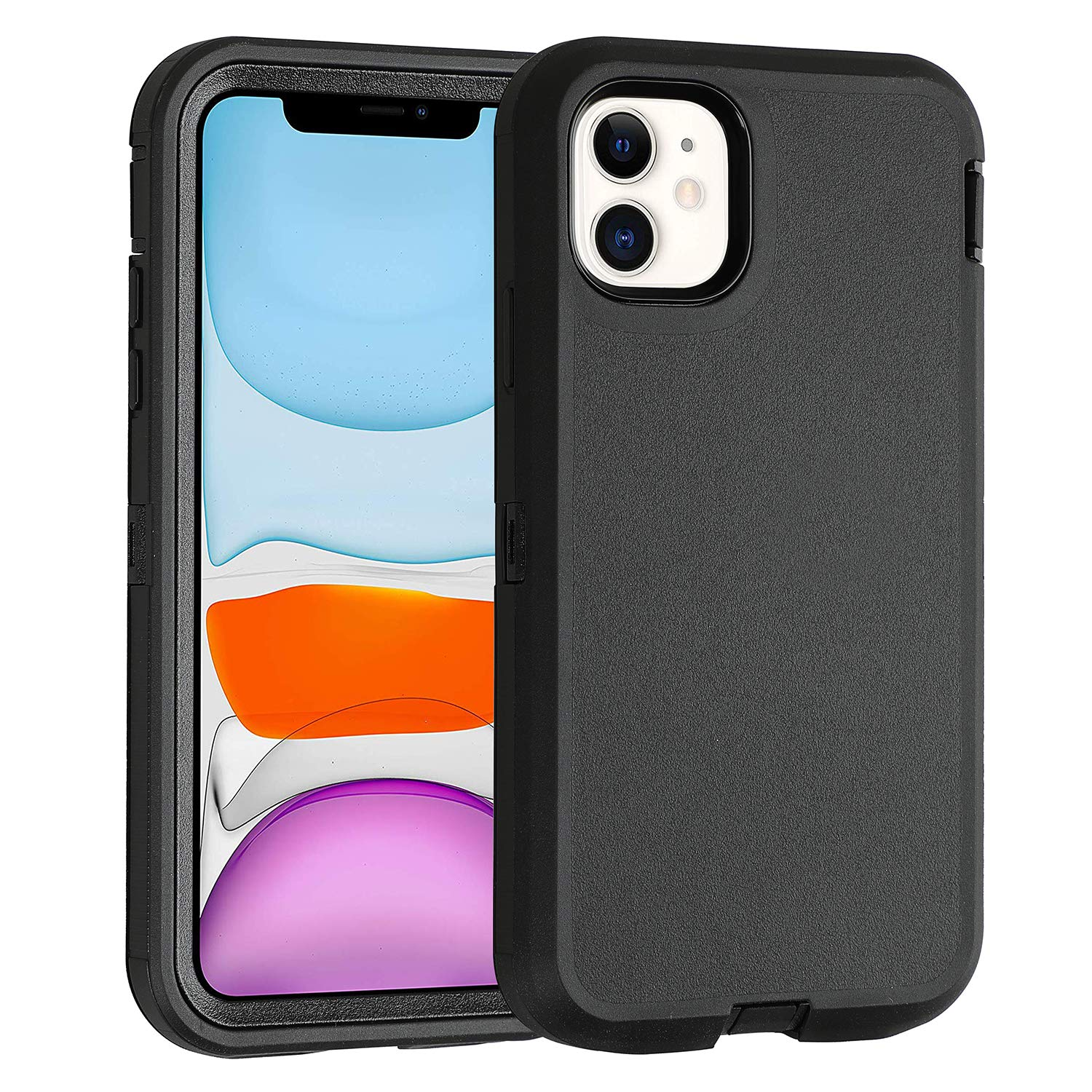 """iPhone 11 Case Co-Goldguard Heavy Duty Armor Rugged Cover Built-in Screen Protector Full Coverage 3 in 1 Reinforced Dust-Proof Shockproof Scratch Resistant Shell Compatible with iPhone 11 6.1"""" Black"""