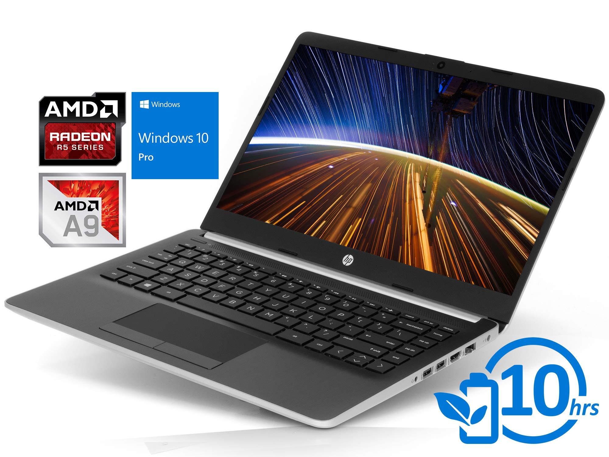 "HP 14 Laptop, 14"" HD Display, AMD A9-9425 Upto 3.7GHz, 16GB RAM, 1TB NVMe SSD, HDMI, Card Reader, Wi-Fi, Bluetooth, Windows 10 Pro S"
