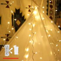 LED String Lights, by myCozyLite, Plug in String Lights, 49Ft 100 LED Warm White Lights with Timer, Waterproof, Perfect for Indoor and Outdoor use with 30V Low Voltage Transformer, Extendable