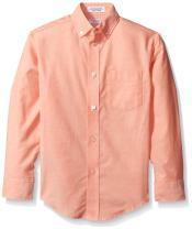 IZOD Boys' Long Sleeve Solid Button-Down Dress Shirt