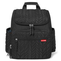 Skip Hop Diaper Bag Backpack: Forma, Multi-Function Baby Travel Bag with Changing Pad & Stroller Attachment, Jet Black