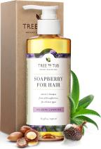 Moisturizing Shampoo for Sensitive Skin by Tree To Tub - pH 5.5 Balanced, Perfect for Dry Hair, Dandruff and Itchy Scalp, with Organic Argan Oil, Wild Soapberries, Natural Lavender Oil 8.5 oz