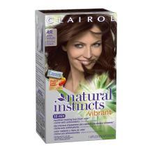 Clairol Natural Instincts Vibrant Permanent Hair Color 4r, Cherry Chestnut, Dark Auburn 1 Kit