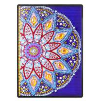 DIY Notebook with Special Shaped Diamond Painting Cover Mandala Journal Notebook Diary Book 100 Pages/50 Sheets A5 Plain/Blank Office Notebook