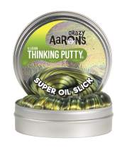 """Crazy Aaron's Thinking Putty 4"""" Tin 3.2 oz Super Oil Slick - Multi-Color Metallic - Never Dries Out"""