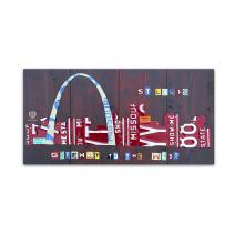 St. Louis Skyline by Design Turnpike, 16x32-Inch Canvas Wall Art