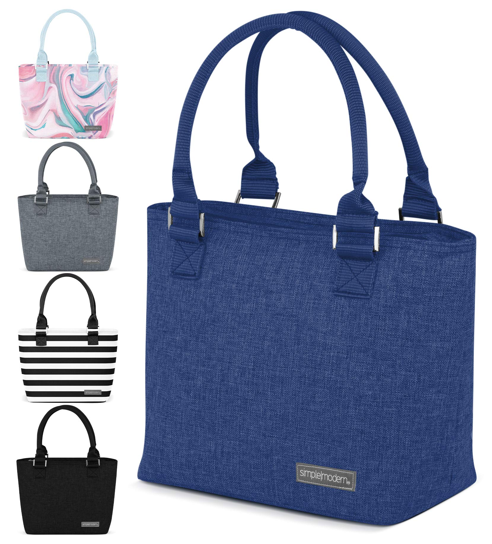 Simple Modern 4L Cara Lena Lunch Bag for Women - Blue Insulated Lunch Box -Twilight