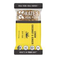 Kate's Real Food Granola Bars 6 Pack   Bivy Bar Lemon Coconut   Clean Energy, Organic Ingredients, Gluten Free, Non GMO   All Natural Delicious Health Snack