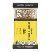 Kate's Real Food Granola Bars 6 Pack | Bivy Bar Lemon Coconut | Clean Energy, Organic Ingredients, Gluten Free, Non GMO | All Natural Delicious Health Snack