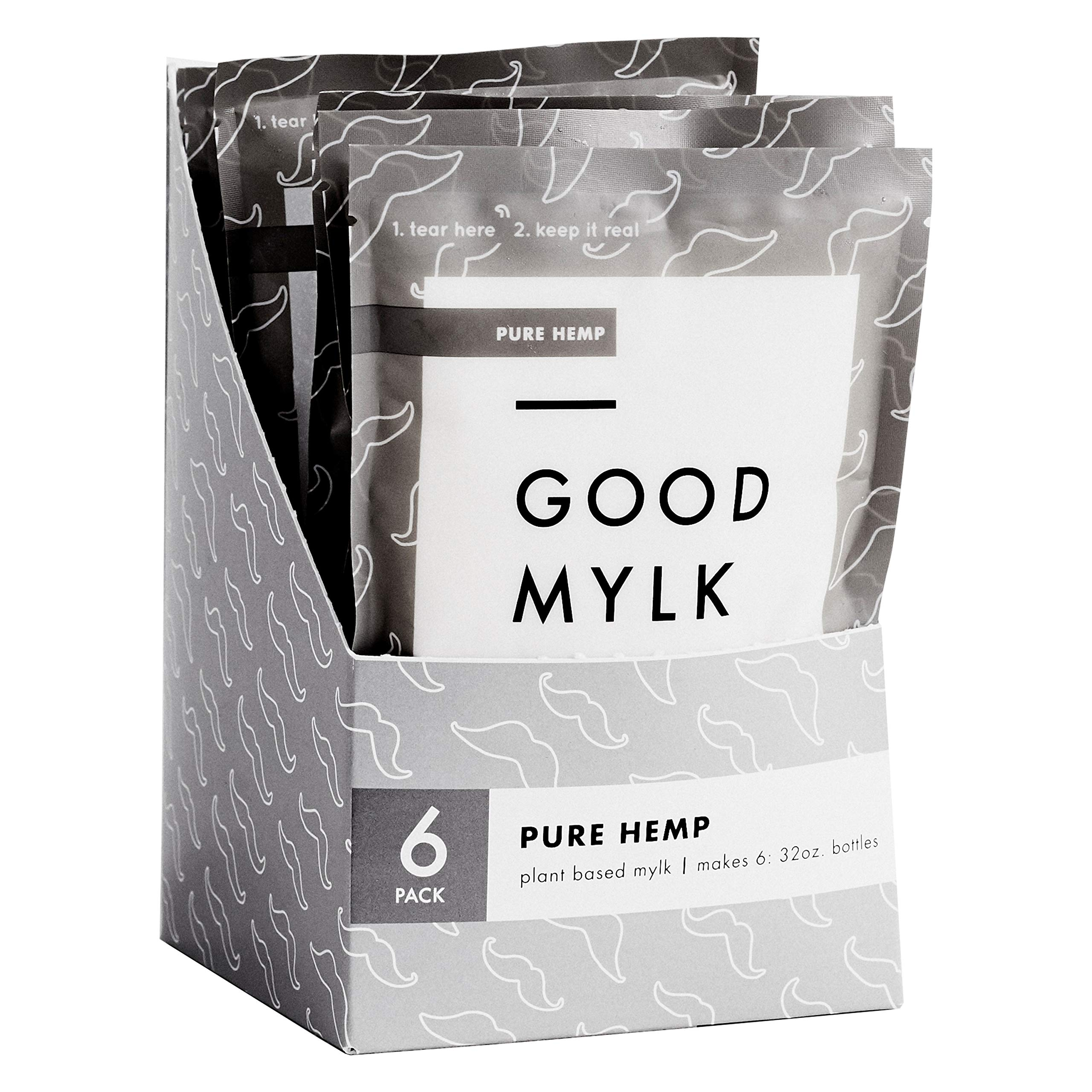 Goodmylk Co. - Organic Hemp Milk Concentrate (6 Pack) - Make Fresh Hemp Milk At Home - Makes 6: 32oz Bottles - Organic, Non-GMO, Vegan, Ships Frozen, Long Shelf Life, Sustainable, Keto, Dairy Free, Store for 10+ months (Unsweetened)