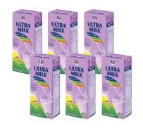 Ultra Milk - Taro Flavored Milk, 6.76 oz, Pack of 6 | UHT | Shelf Stable Tetra-Pack | Vitamins A, B6, B12, Calcium, and Phosphorus