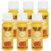 Cold Pressed Juice Shots - Turmeric, Ginger, Lemon & Cayenne Juice - Organic Health & Wellness Blast - 2 Ounce Single Servings, 6 Count - By Pulp Story Juice, Yellow