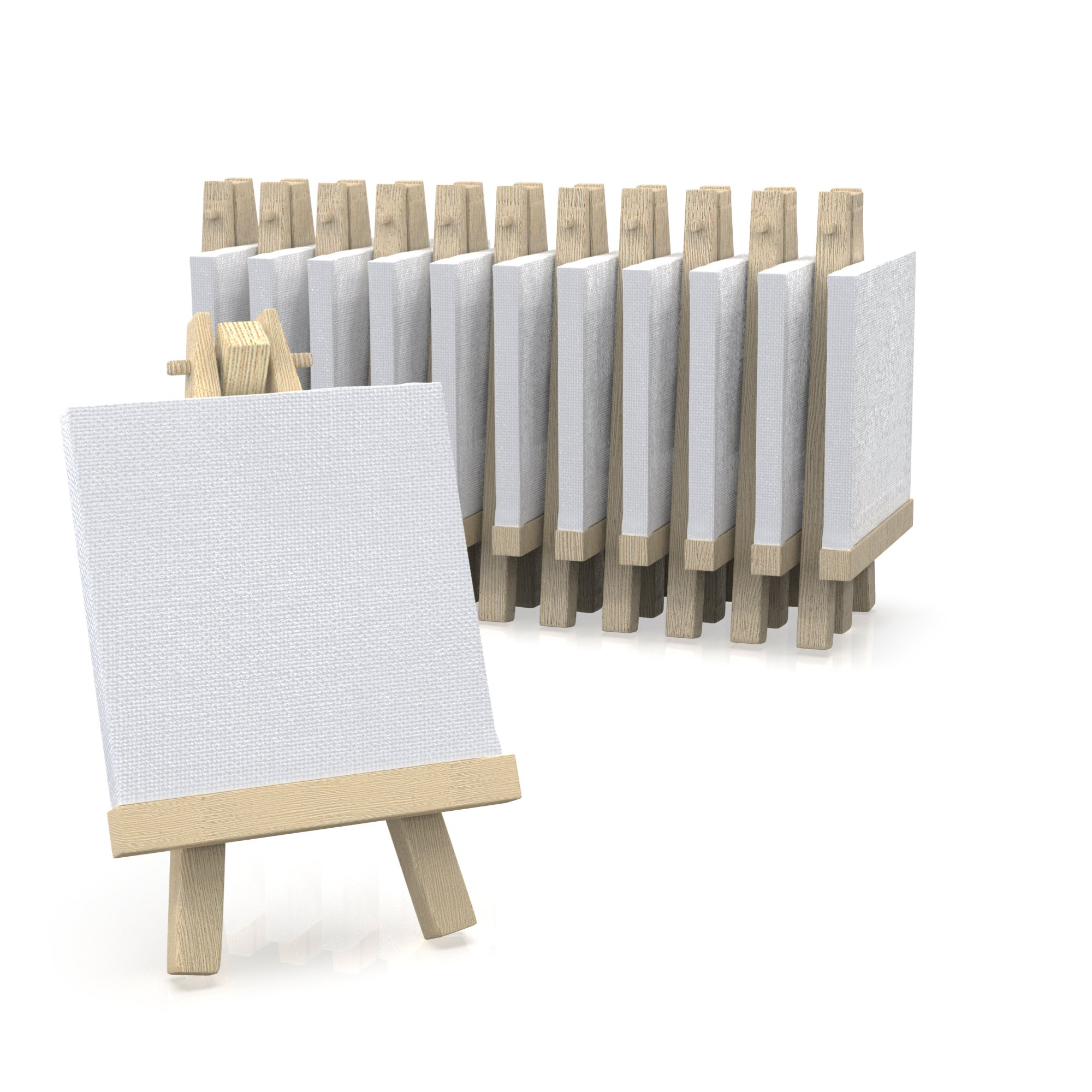 """3""""x3"""" Canvas for Painting with Easel, Academy Art Supplies (12 Pack)"""