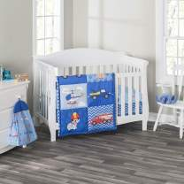 Everyday Kids 3 Piece Boys Crib Bedding Set - Little Rescuer - Includes Quilt, Fitted Sheet and Dust Ruffle - Nursery Bedding Set - Baby Crib Bedding Set …