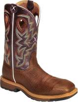Twisted X Men's Comp Toe Lite Grained Bomber/Purple Western Work Boot (MLCC001)