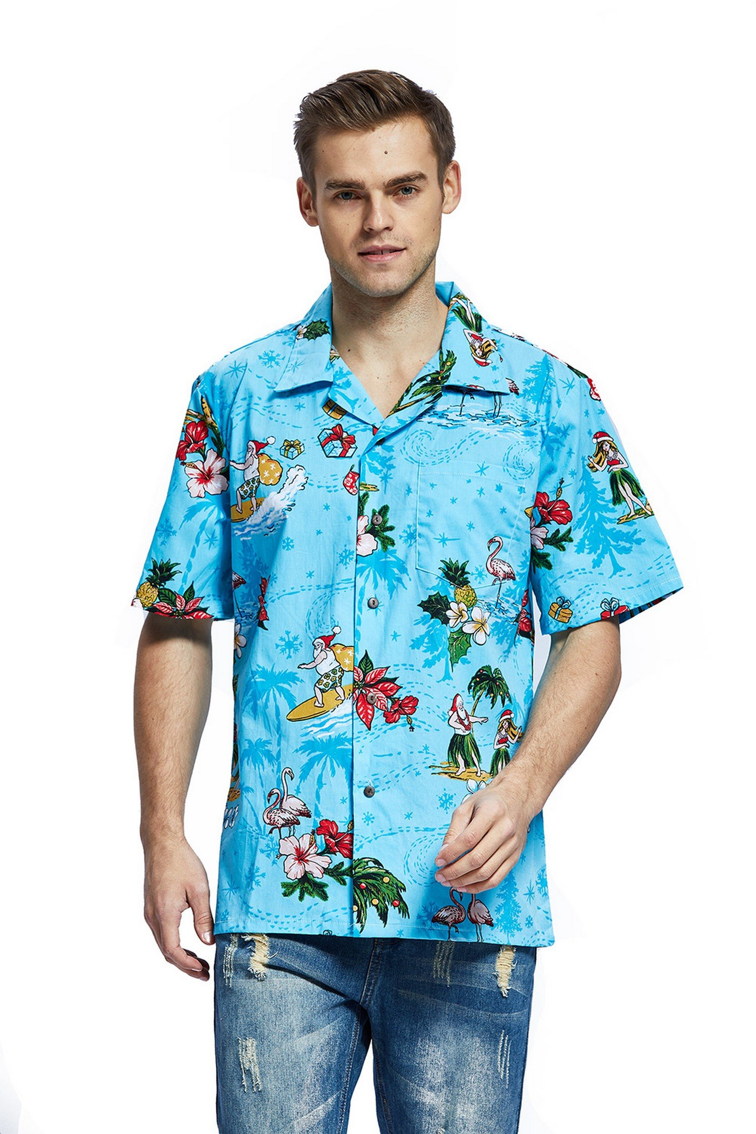 Hawaii Hangover Men's Hawaiian Shirt Aloha Shirt Christmas Shirt Santa