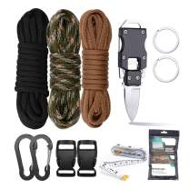 WEREWOLVES Paracord Knife Bracelet Making Kit - Survival Bracelet,Paracord Lanyards, Monkey Fist, Dog Collar Crafting Set with Buckles and Carabiner for Adult