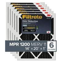Filtrete 14x20x1, AC Furnace Air Filter, MPR 1200, Allergen Defense Odor Reduction, 6-Pack