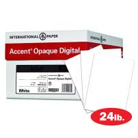 Accent Opaque Printer Paper, White Paper, 24lb Copy Paper, 8.5x11 Letter Paper, 10 Ream Case / 5,000 Sheets, Smooth Finish (109355C)
